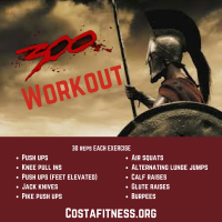 300 Workout (Workout Wednesday)