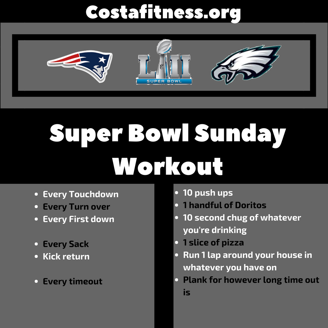 Super Bowl Sunday Workout
